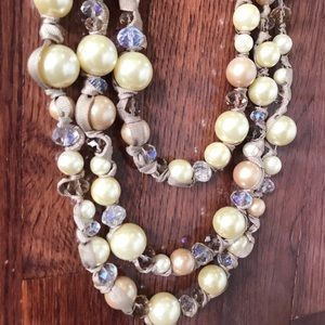 Francesca's Collections Jewelry - Three strand pearl necklace